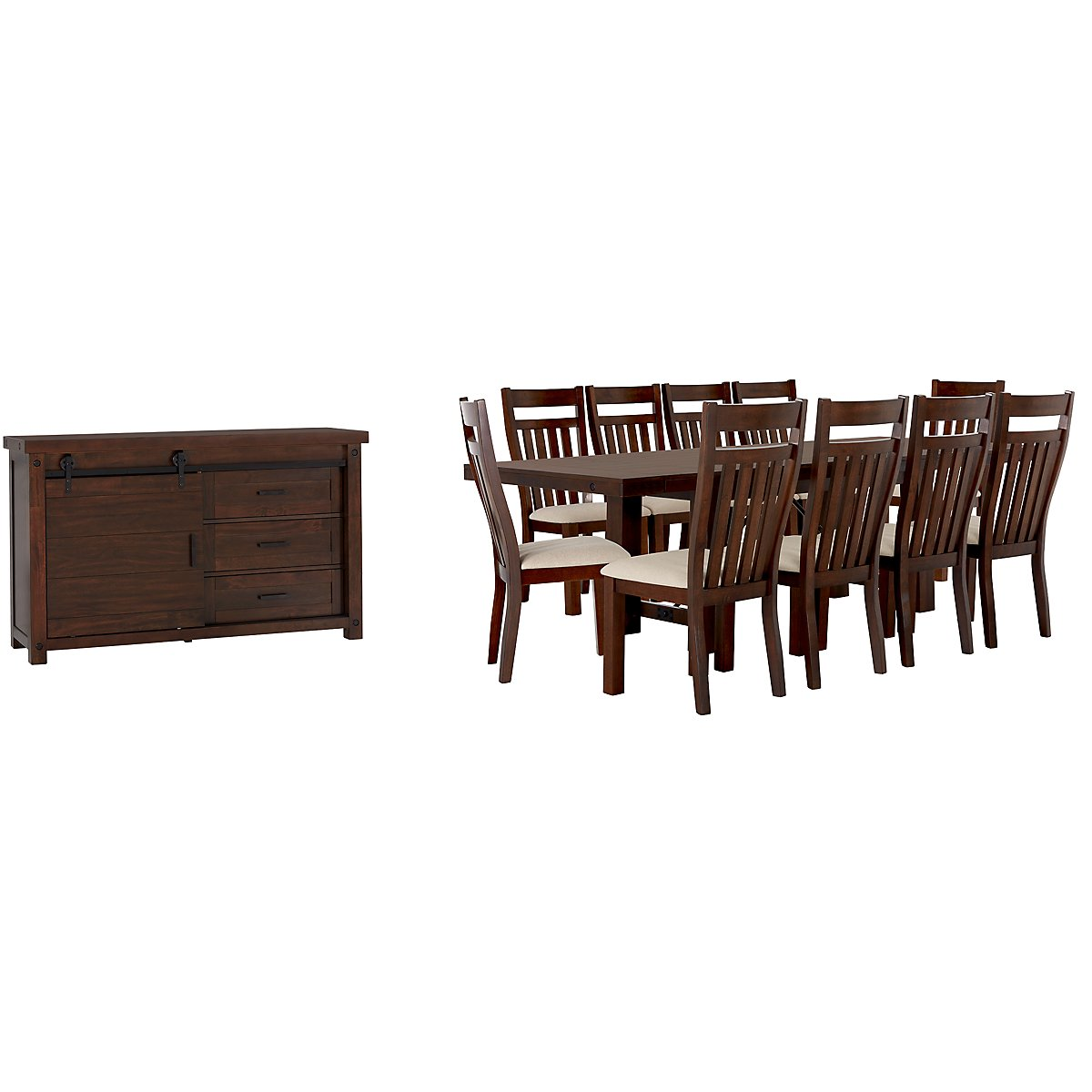 Napa Dark Tone Wood Dining Room