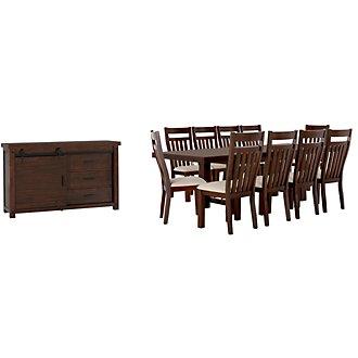 Napa Dark Tone Rectangular Dining Room