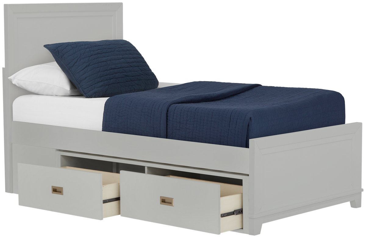 Ryder Gray Wood Panel Storage Bed