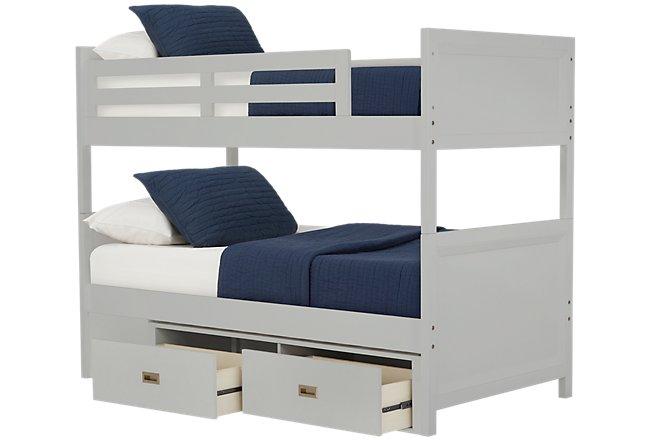 Ryder Gray Wood Storage Bunk Bed