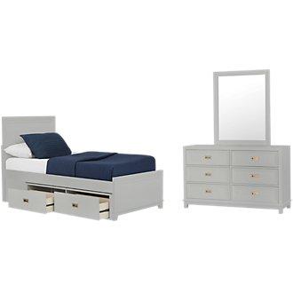 Ryder Gray Panel Storage Bedroom