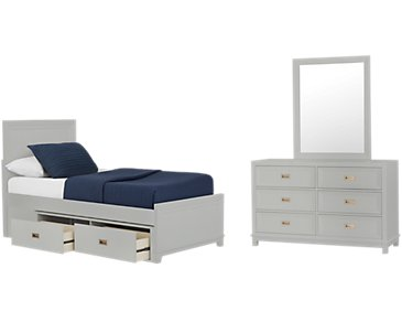 Ryder Gray Panel Storage Bedroom
