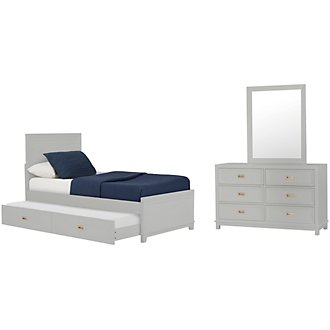 Ryder Gray Panel Trundle Bedroom