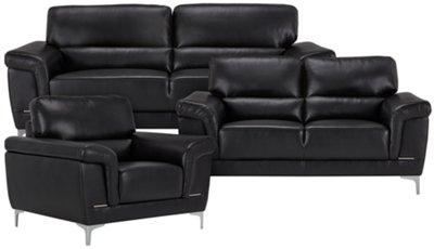 Enzo Black Microfiber Living Room  sc 1 st  City Furniture   Semi-Annual Sale & City Furniture: Enzo Black Microfiber Living Room