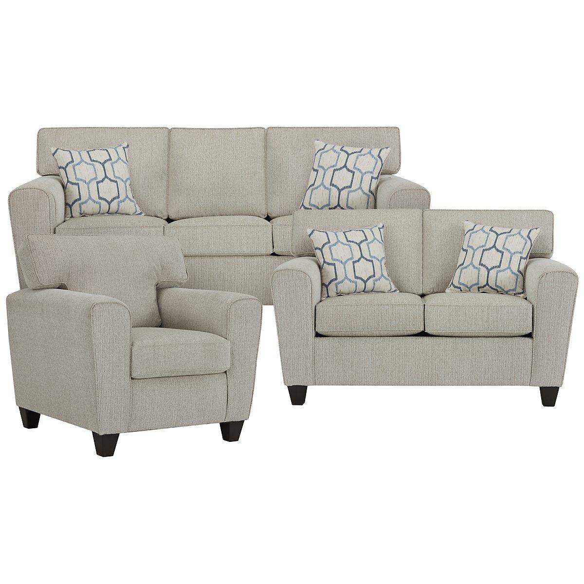 city furniture zoey lt beige microfiber living room