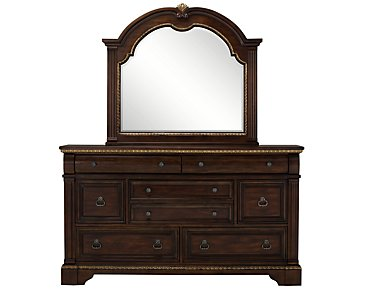 Madrid Dark Tone Dresser & Mirror