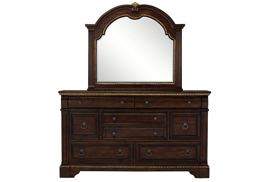Madrid Dark Tone  Dresser & Mirror