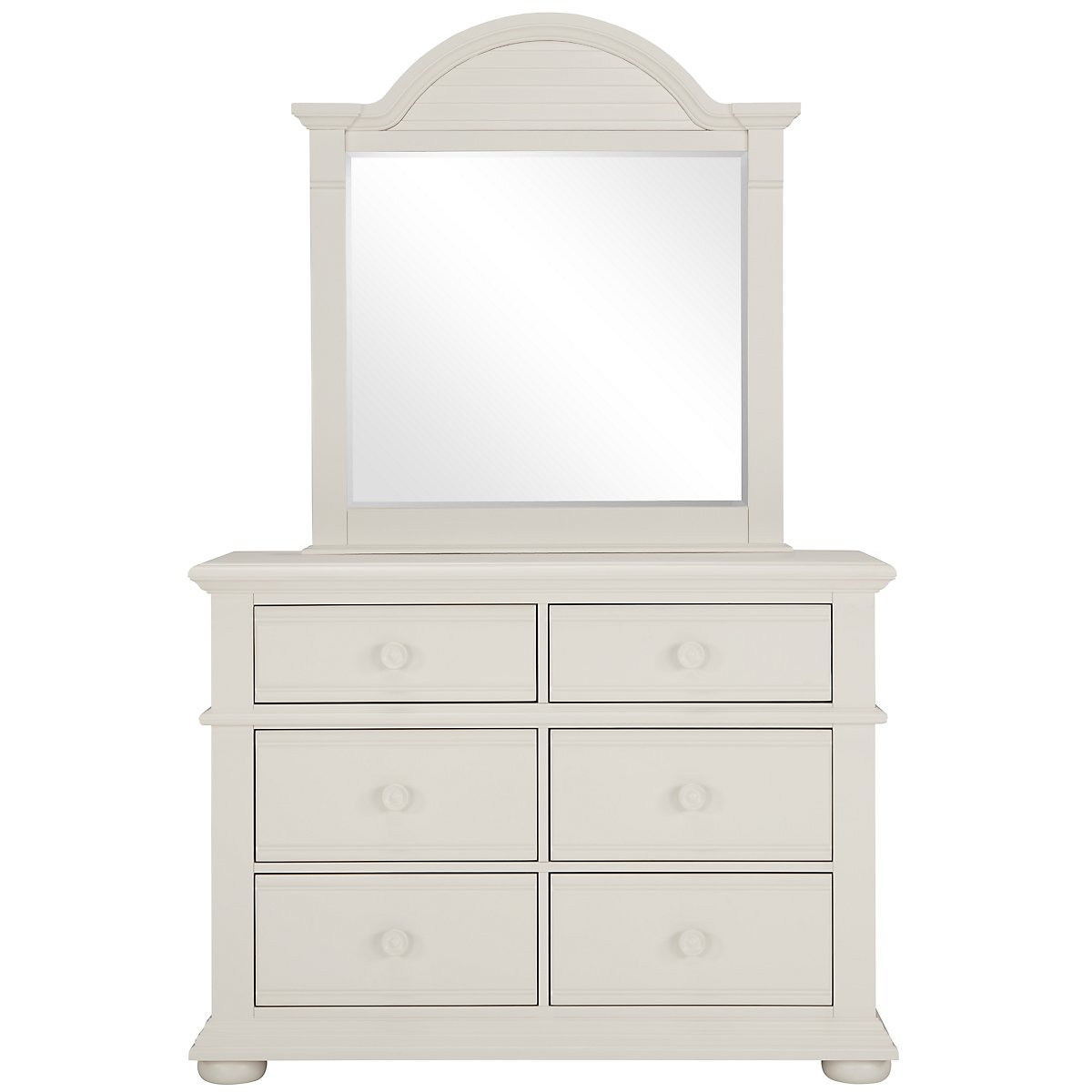 Quinn White Wood Dresser & Mirror