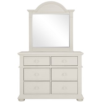Quinn White Small Dresser & Mirror