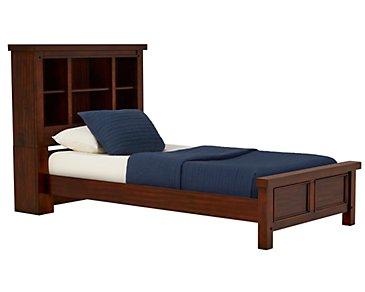Napa Dark Tone Bookcase Bed