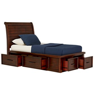 Napa Dark Tone Four-Drawer Sleigh Storage Bed
