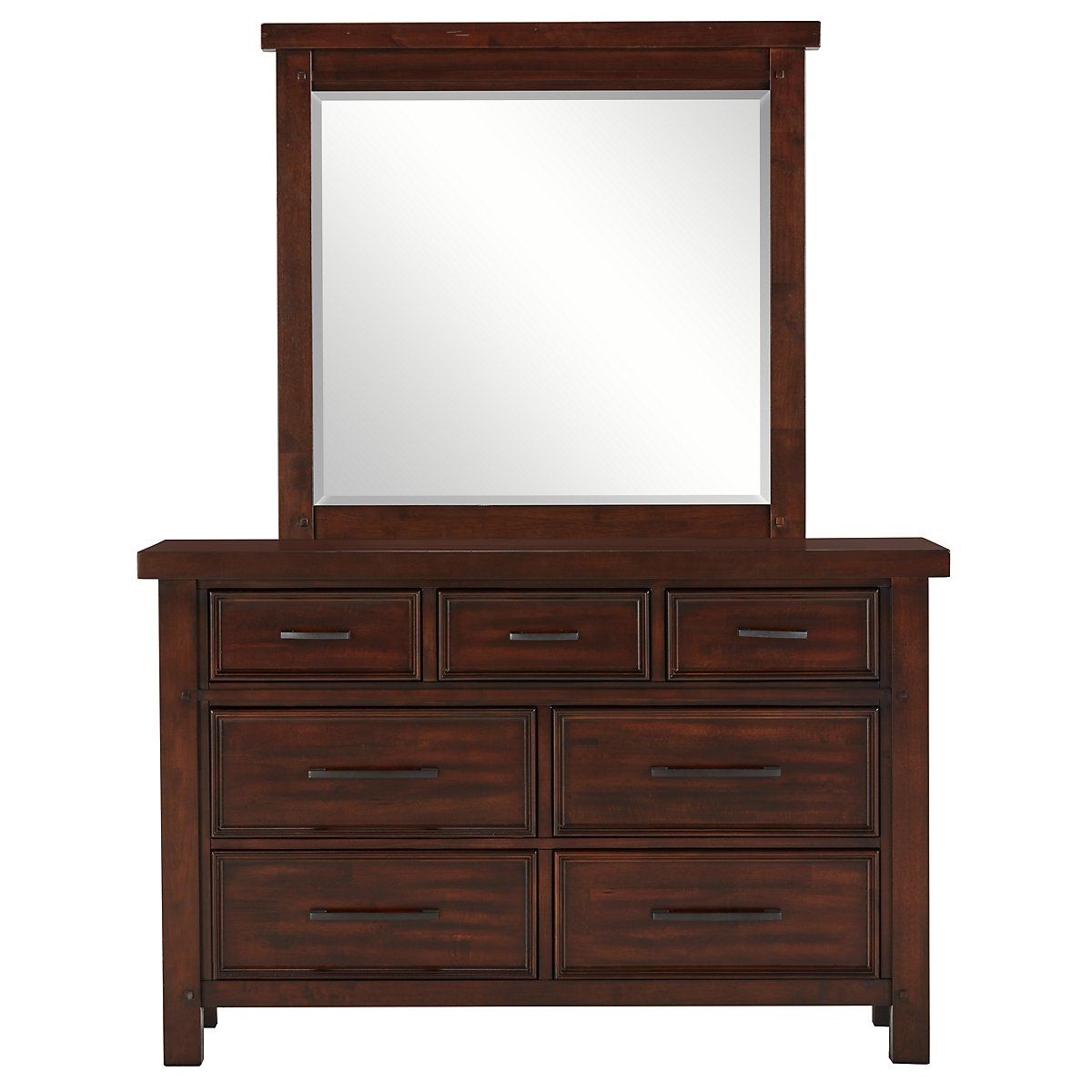 Napa Dark Tone Wood Youth Dresser & Mirror