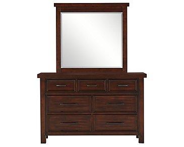 Napa Dark Tone Youth Dresser & Mirror