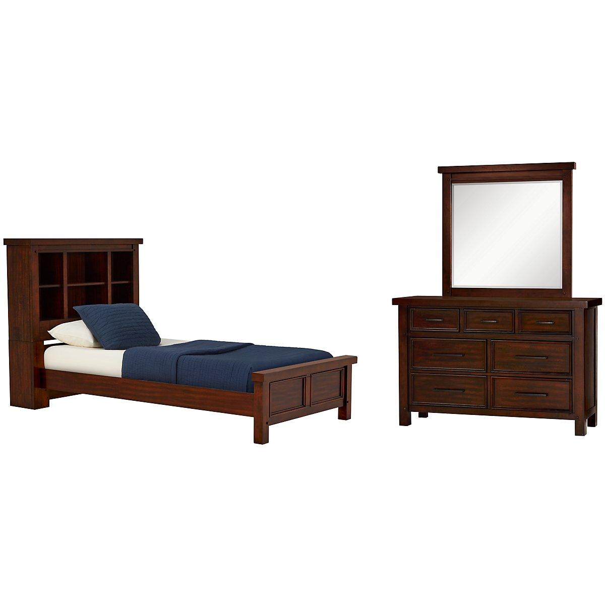 City furniture napa dark tone bookcase bedroom for Napa valley bedroom furniture