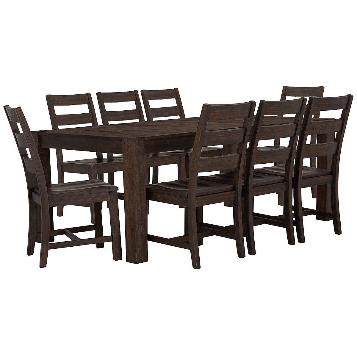 City Furniture: Holden Mid Tone Table & 4 Wood Chairs