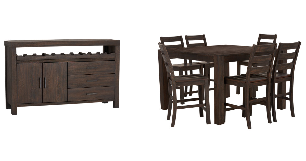 City Furniture Holden Mid Tone High Dining Room