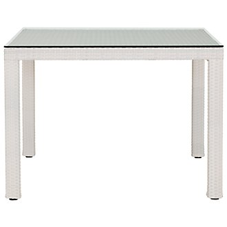 "Bahia White 40"" Square Table"