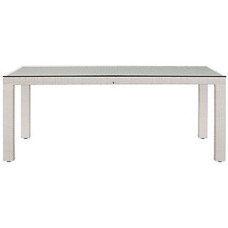 "Bahia White 72"" Rectangular Table"