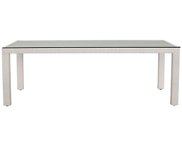 "Bahia White 84"" Rectangular Table"