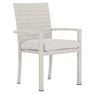 Bahia White Arm Chair