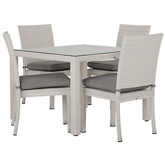 "Bahia Gray 40"" Square Table & 4 Chairs"