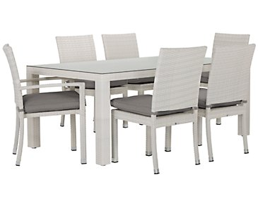 "Bahia Gray 72"" Rectangular Table & 4 Chairs"