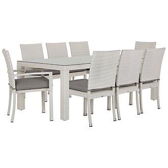 "Bahia Gray 84"" Rectangular Table & 4 Chairs"