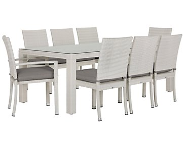 "Bahia Gray 84"" Rectangular Table & 4 Chairs"