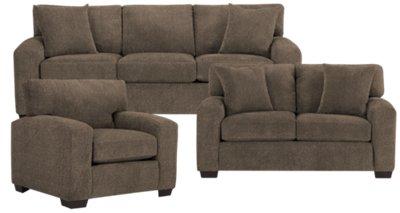 Adam Dark Brown Microfiber Sofa. VIEW LARGER
