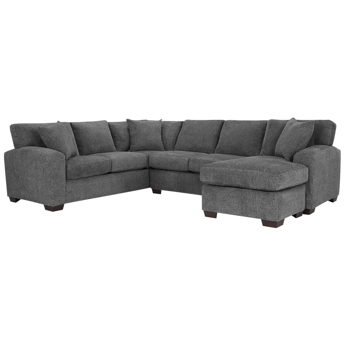 Gray Microfiber Sectional Sofa With Chaise City Furniture Adam Dark Gray Microfiber Right Chaise