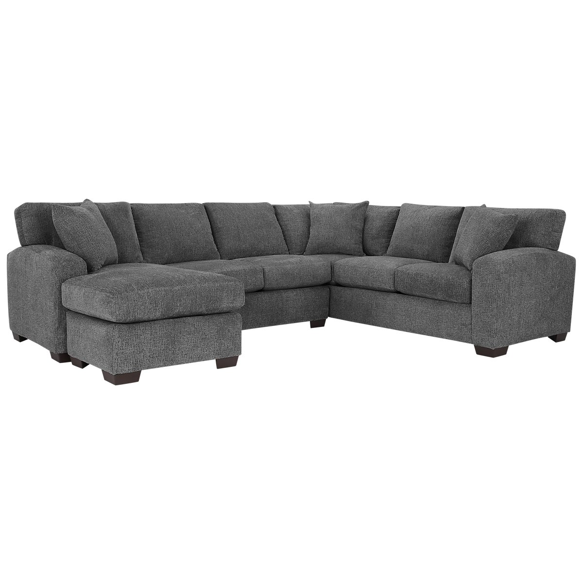 Microfiber sofa chaise catosferanet for Wildon home bailey microfiber sectional sofa with chaise on left