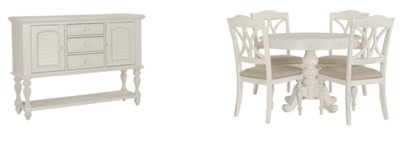 Quinn White Round Dining Room
