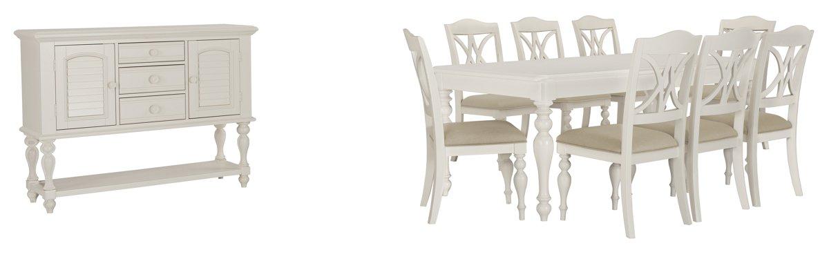 Quinn White Wood Dining Room