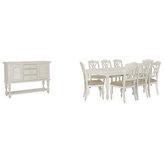 Quinn White Rectangular Dining Room