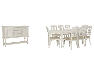 Quinn White Rectangular Dining Room