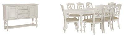 Beautiful Quinn White Rectangular Dining Room
