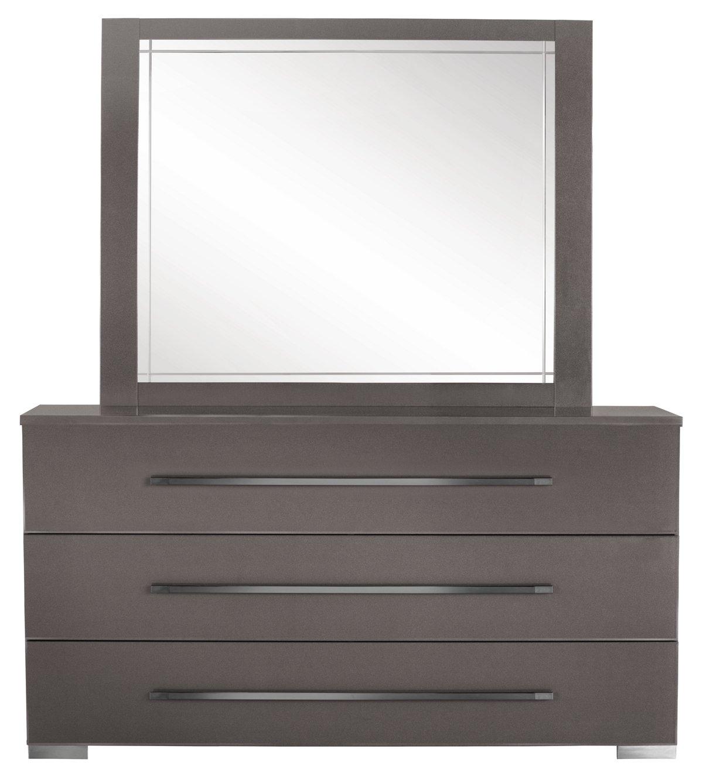 Dimora Gray Wood Dresser & Mirror