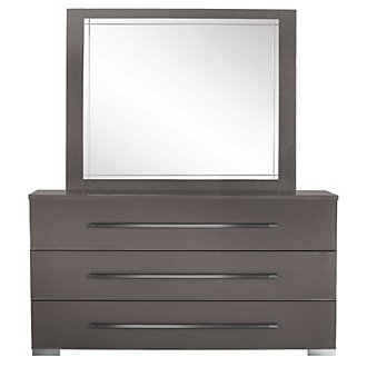 Dimora Gray Dresser & Mirror