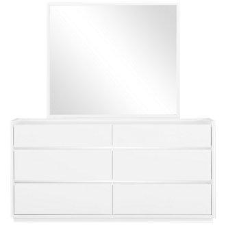 Neo White Dresser & Mirror