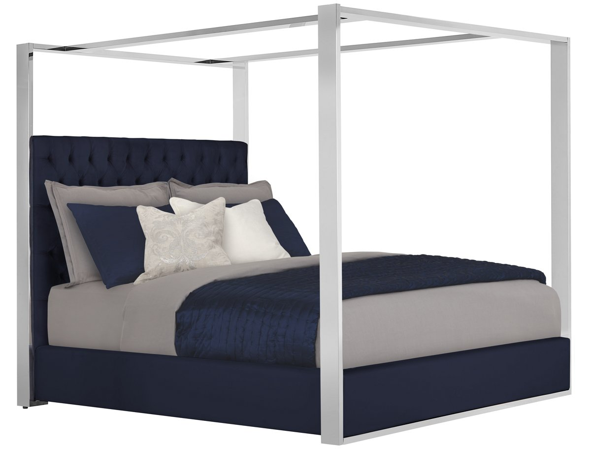 City Furniture Neo Dk Blue Canopy Bed