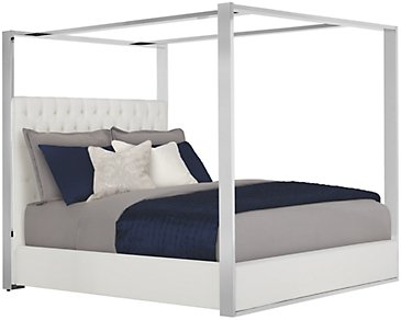 Neo White Canopy Bed