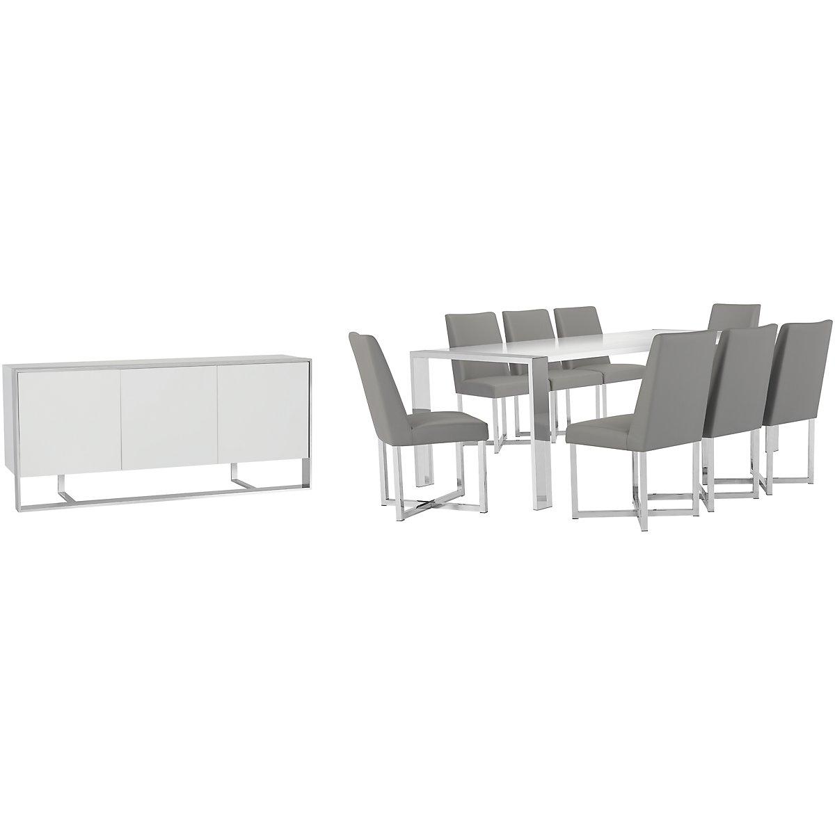 Neo Gray Rectangular Dining Room