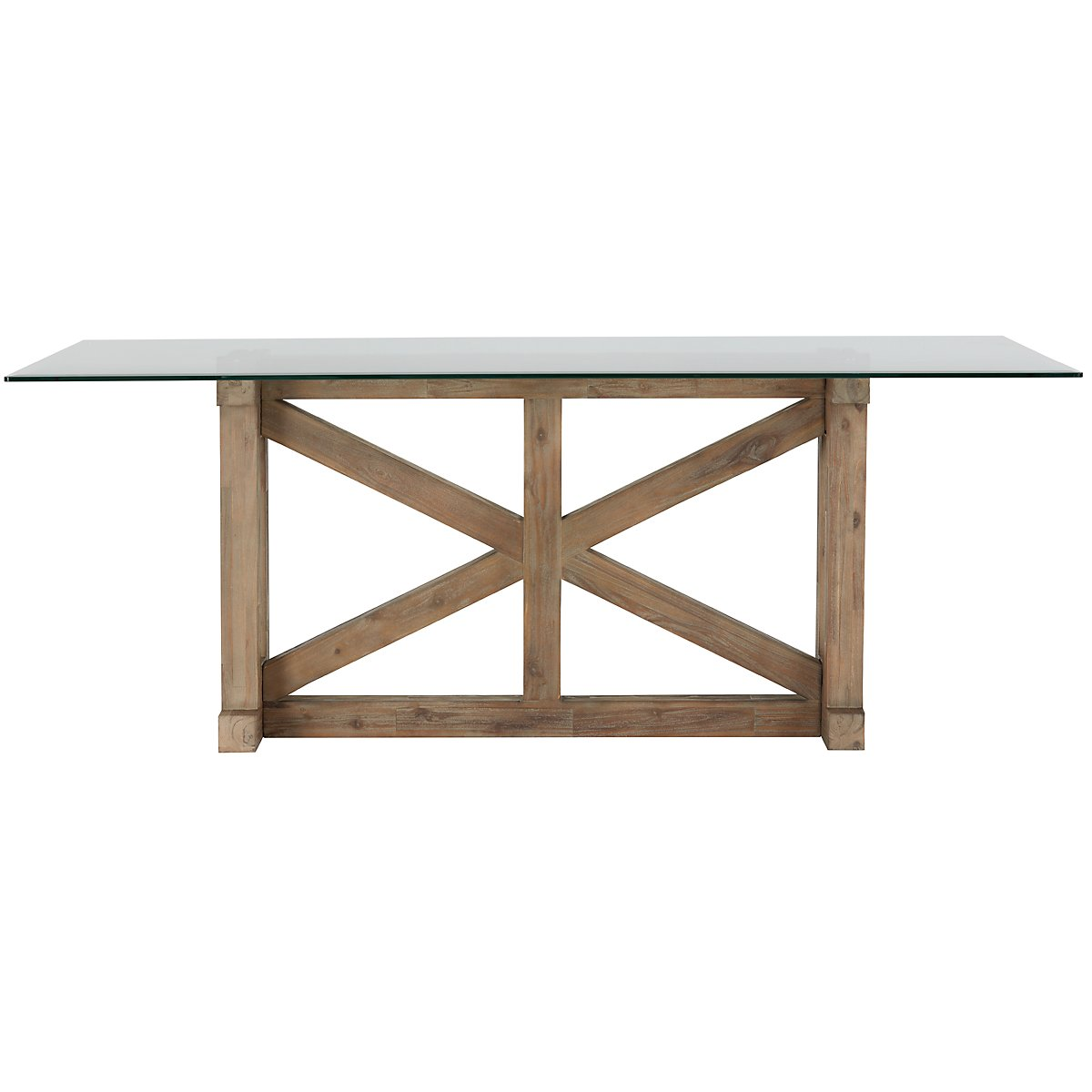 Hampton Light Tone Glass Rectangular Table