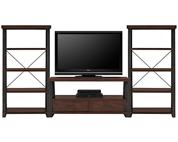 Dakota Dark Tone Entertainment Wall