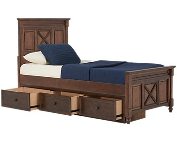Big Sur Dark Tone Panel Storage Bed