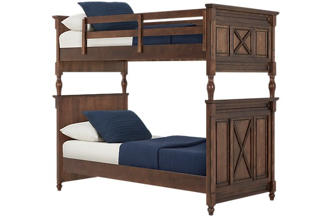 Big Sur Dark Tone Wood Bunk Bed Bedroom