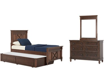 Big Sur Dark Tone Panel Trundle Bedroom