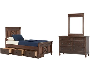 Big Sur Dark Tone Panel Storage Bedroom