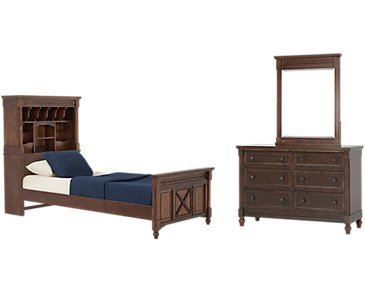 Big Sur Dark Tone Bookcase Bedroom
