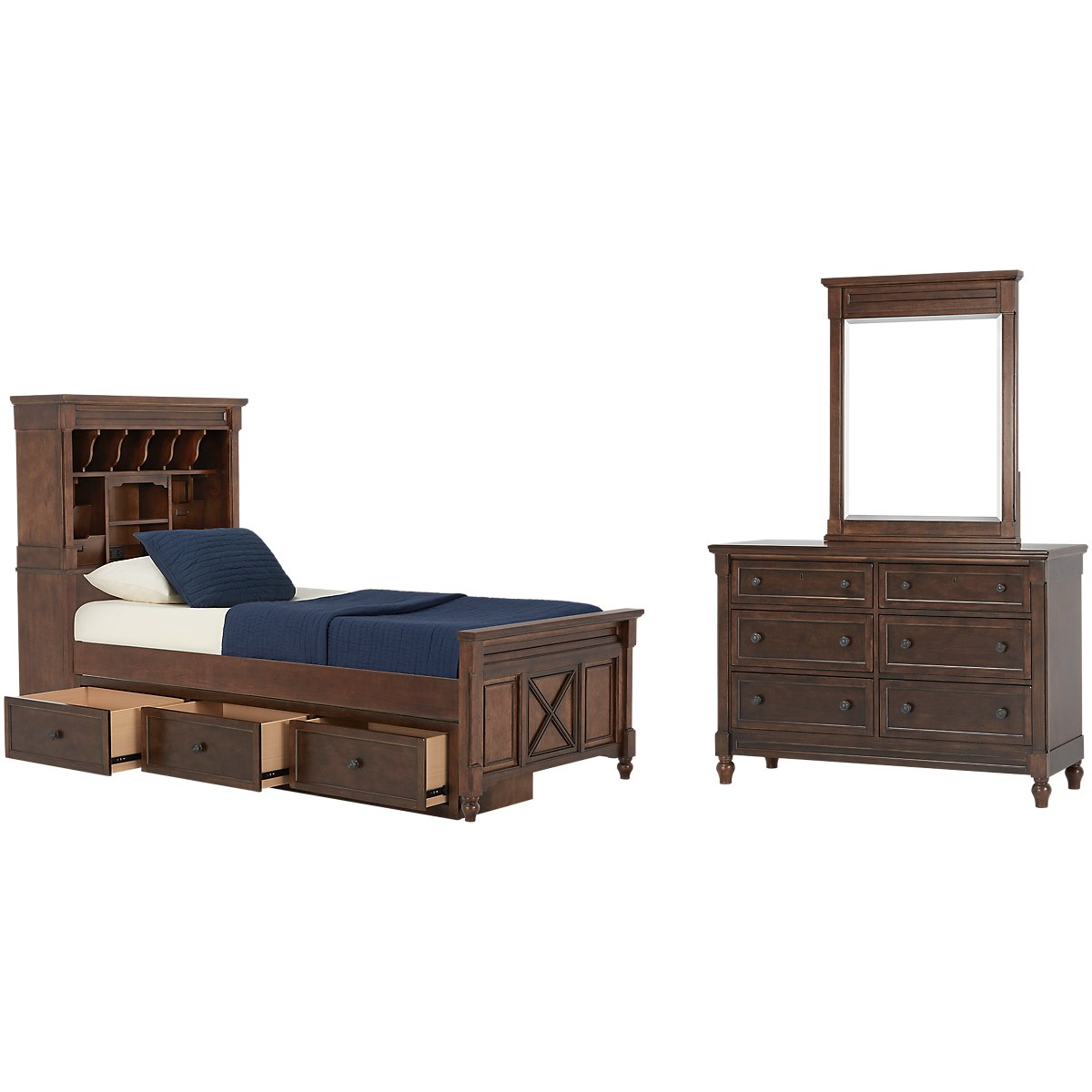 Big Sur Dark Tone Bookcase Storage Bedroom